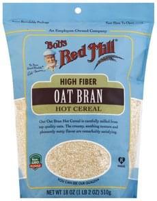 Bobs Red Mill Hot Cereal High Fiber, Oats Bran