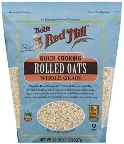 Bobs Red Mill Rolled Oats Quick Cooking, Whole Grain