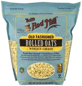Bobs Red Mill Rolled Oats Old Fashioned, Whole Grain