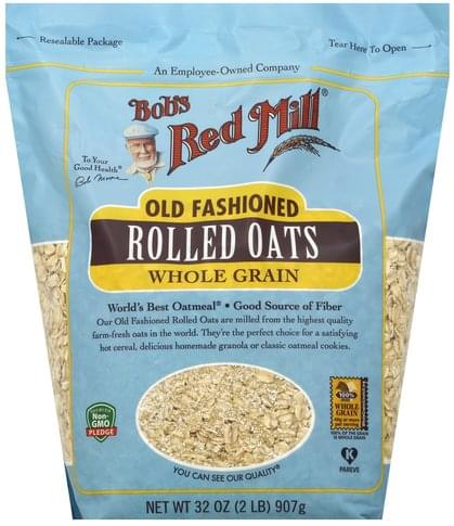 Bobs Red Mill Whole Grain, Old Fashioned Rolled Oats - 32 oz