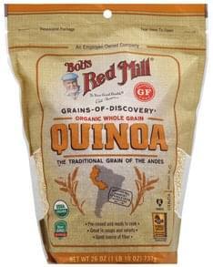 Bobs Red Mill Quinoa Organic, Whole Grain