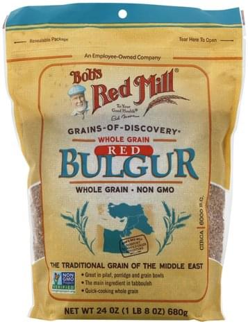 Bobs Red Mill Whole Grain, Red Bulgur - 24 oz