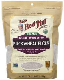 Bobs Red Mill Flour Organic, Whole Grain, Buckwheat