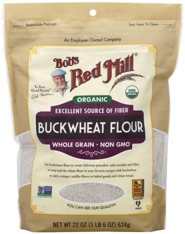 Bobs Red Mill Organic, Whole Grain, Buckwheat Flour - 22 oz