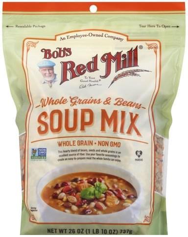 Bobs Red Mill Whole Grains & Beans, Whole Grain Soup Mix - 26 oz
