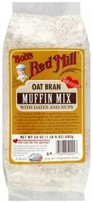 Bobs Red Mill Muffin Mix Oat Bran, with Dates and Nuts