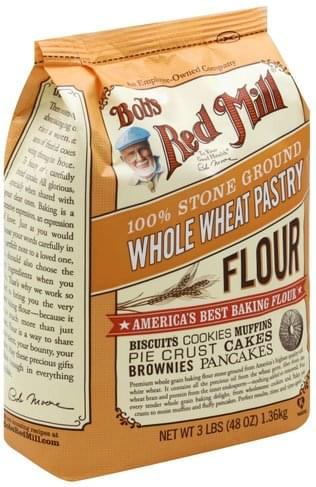 Bobs Red Mill Whole Wheat, 100% Stone Ground Flour - 3 lb