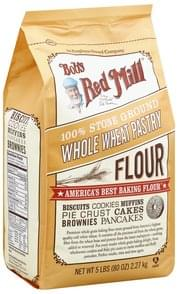 Bobs Red Mill Flour Whole Wheat Pastry, 100% Stone Ground