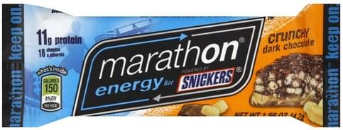 Snickers Crunchy Dark Chocolate Energy Bar - 1.56 oz