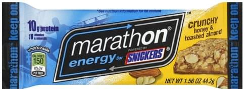 Snickers Crunchy Honey & Toasted Almond Energy Bar - 1.56 oz
