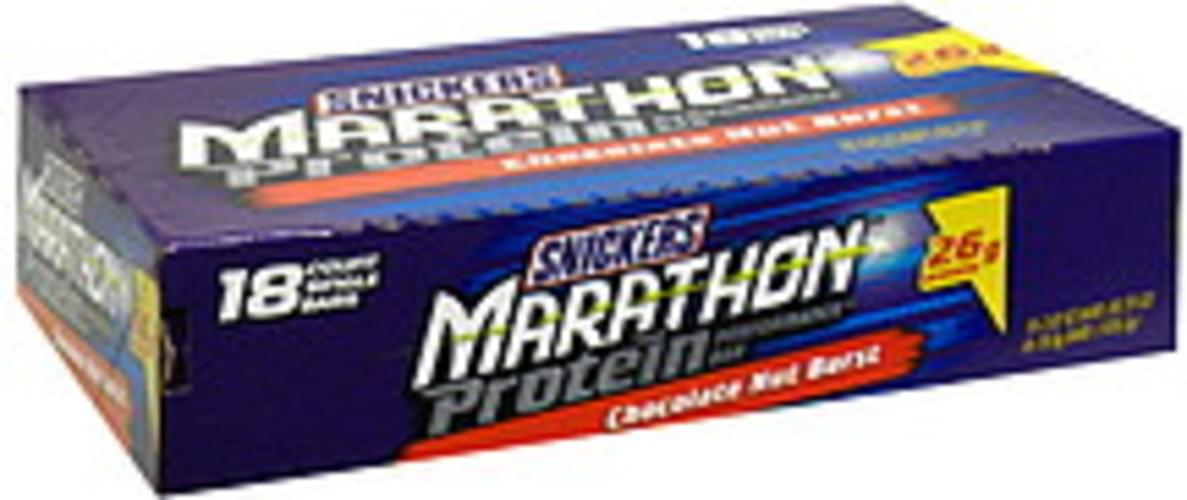 Snickers Chocolate Nut Burst Protein Performance Bar - 18 ea