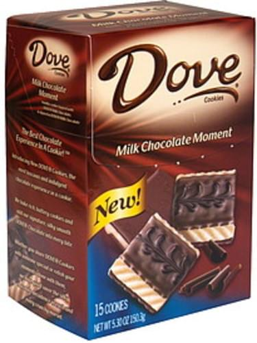 Dove Milk Chocolate Moment Cookies - 15