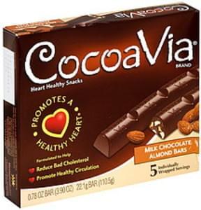 CocoaVia Milk Chocolate Almond Bars