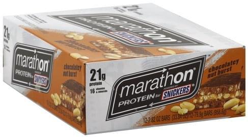 Snickers Chocolatey Nut Burst Protein Bar - 12 ea