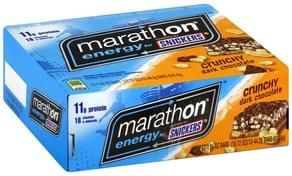 Snickers Energy Bars Crunchy Dark Chocolate