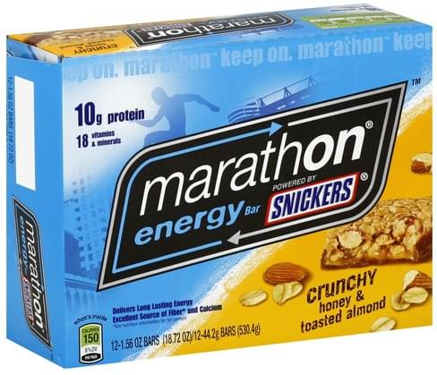 Snickers Crunchy Honey & Toasted Almond Energy Bar - 12 ea