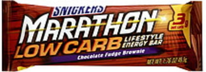 Snickers Energy Bar Low Carb Lifestyle, Chocolate Fudge Brownie