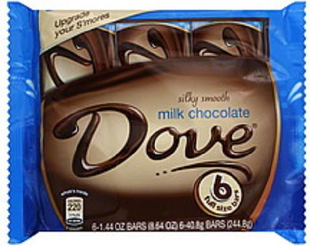 Dove Milk Chocolate - 6 ea, Nutrition