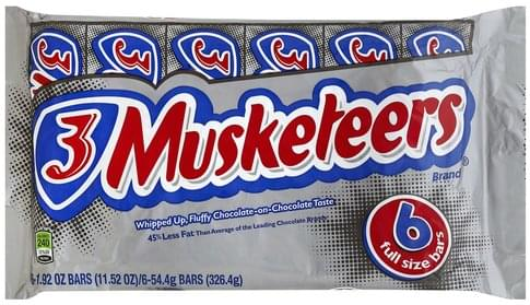3 Musketeers Candy Bars - 6 ea