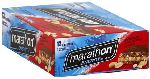 Marathon Chewy Chocolatey Peanut Energy Bars - 12 ea