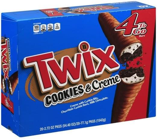 Twix Cookies & Creme Cookie Bar - 20 oz