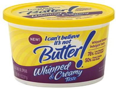 I Cant Believe Its Not Butter Vegetable Oil Spread 58%, Whipped & Creamy Taste