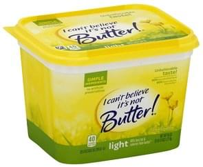 I Cant Believe Its Not Butter Vegetable Oil Spread 30%, Light
