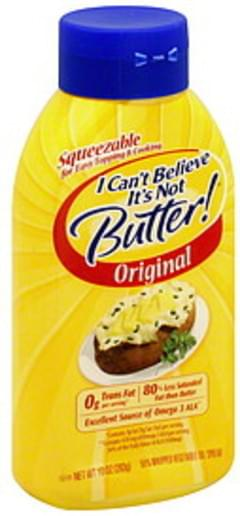 I Cant Believe Its Not Butter Vegetable Oil Spread 55%, Whipped, Original