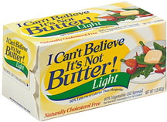 I Cant Believe Its Not Butter Light Vegetable Oil Spread - 1 lb