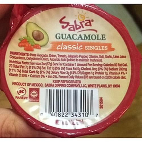 Sabra Guacamole - 57 g