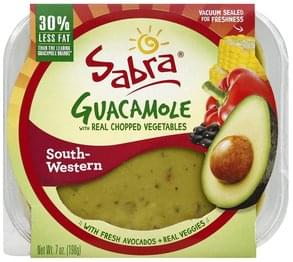 Sabra Guacamole with Real Chopped Vegetables, South-Western