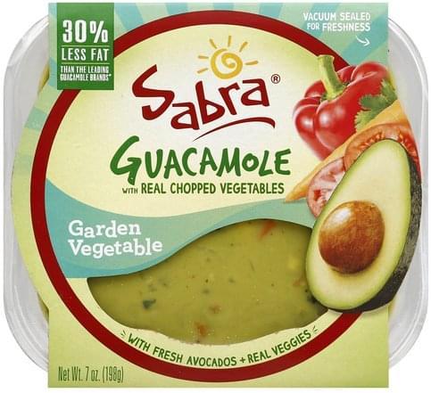 Sabra with Real Chopped Vegetables, Garden Vegetable Guacamole - 7 oz