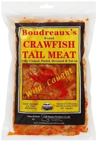 Boudreauxs Crawfish Tail Meat - 12 oz