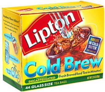 Lipton Iced Tea Bags Decaffeinated, Glass Size