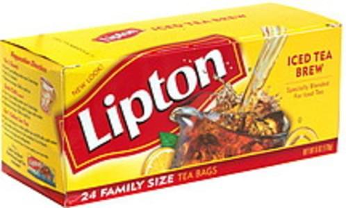 Lipton Iced Tea Brew Family Size Tea Bags