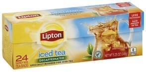 Lipton Iced Tea Decaffeinated, Family Size Tea Bags