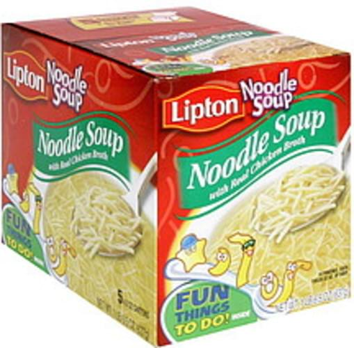 Lipton with Real Chicken Broth Noodle Soup - 5 ea, Nutrition