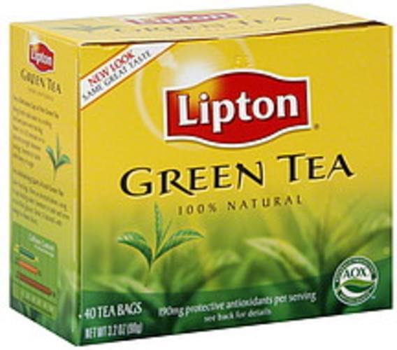 Lipton Green Tea Tea Bags - 40 ea