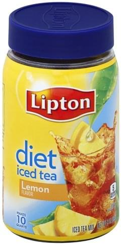 Lipton Iced Tea, Diet, Lemon Flavor
