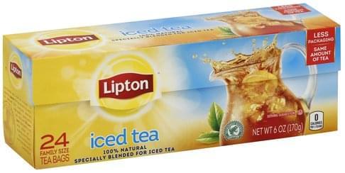 Lipton Family Size Tea Bags Iced Tea - 24 ea