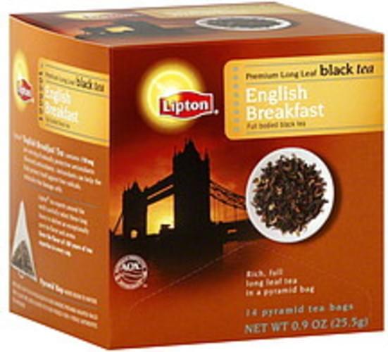 Lipton English Breakfast Black Tea - 14 ea