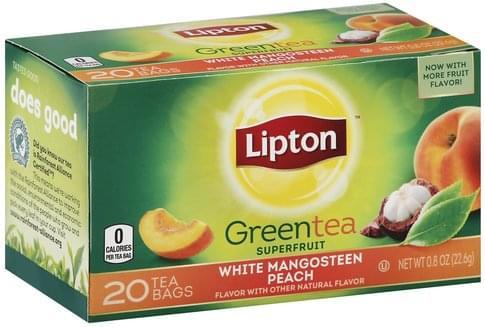 White Mangosteen Peach, Bags Green Tea