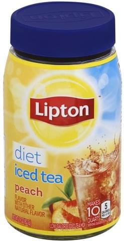 Lipton Peach Flavor, Diet Iced Tea Mix