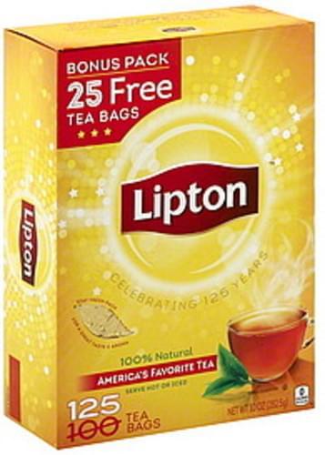 Lipton Tea Bags, Bonus Pack Tea - 125