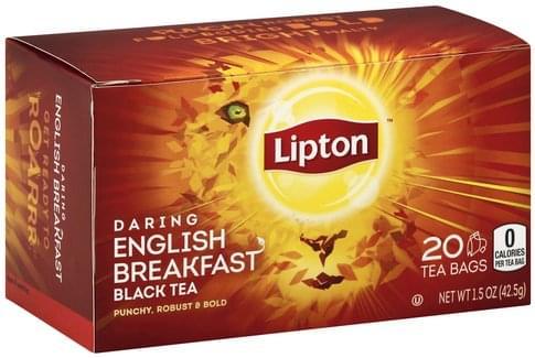 Lipton Daring English Breakfast, Tea Bags Black Tea - 20 ea