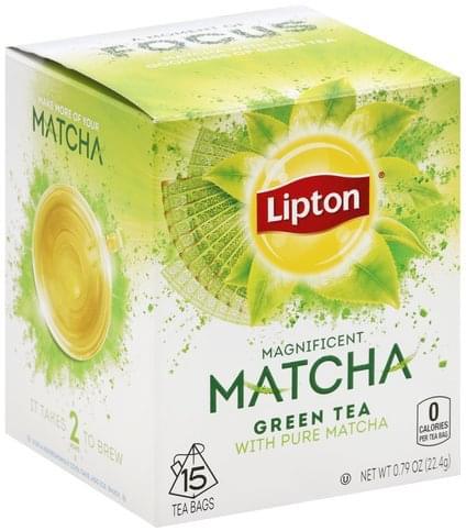 Lipton Magnificent Matcha, Bags Green