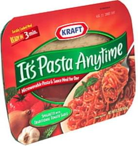 Kraft Pasta & Sauce Meal for One Microwaveable, Spaghetti with Traditional Tomato Sauce