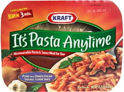 Kraft Pasta & Sauce Meal for One Microwaveable, Penne with Tomato Italian Sausage-Flavor Sauce
