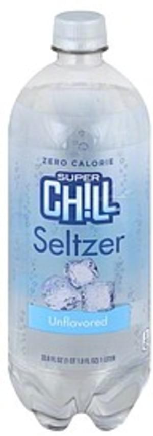 Super Chill Unflavored Seltzer - 33.8 oz