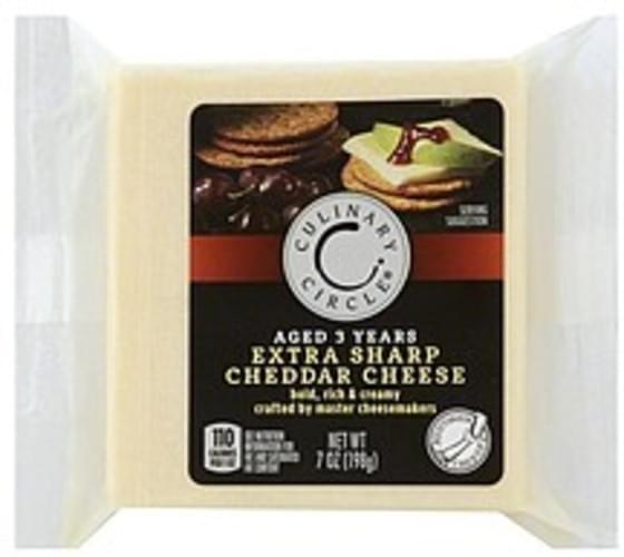 Culinary Circle Extra Sharp Cheddar Cheese - 7 oz